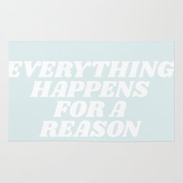 everything happens for a reason Rug