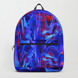 Whimsical Display of Blue Backpack
