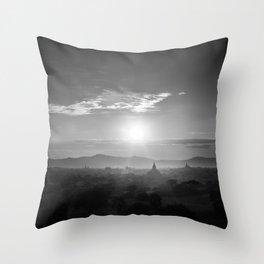 Bagan B&W Throw Pillow