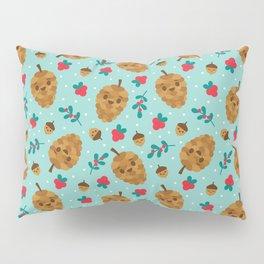 Pinecone + Acorn Surface Patten Design / Blue Pillow Sham