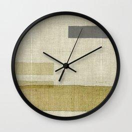 """""""Burlap Texture Natural Shades"""" Wall Clock"""