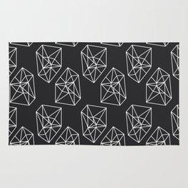 Almost Geometric Jewels Pattern #black Rug
