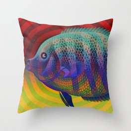 Strange Fish Throw Pillow