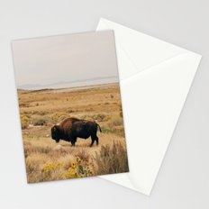 Bison Bull on Antelope Island Stationery Cards