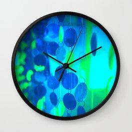 UNDERWATER GLAM CIRCLES #Blue #2 Wall Clock