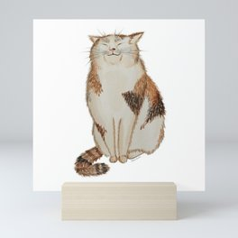 Happy Cat Mini Art Print