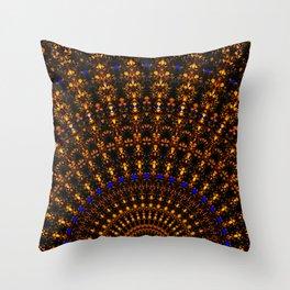 Quasicrystalline Sunrise Throw Pillow