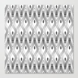 Art Deco 56 . black and gray spiral . Canvas Print