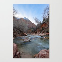 Virgin_River in Winter - Zion_National_Park Canvas Print