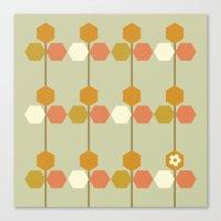 hexagon Canvas Prints featuring Hexagon by clare nicolson