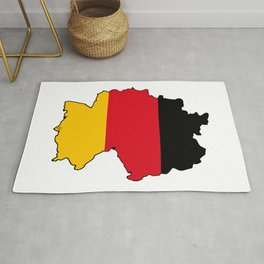 Germany Map with German Flag Rug