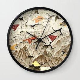 Peeling Pyrenees Paper Planes Wall Clock