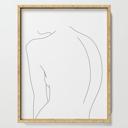 Minimal line drawing of women's body - Alex Serving Tray