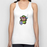 the legend of zelda Tank Tops featuring Legend of Zelda - Link by Nerd Stuff