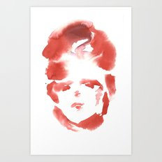 Red Ace Art Print