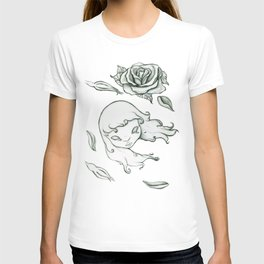 Rose in the wind T-shirt