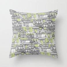 Paris toile eau de nil Throw Pillow