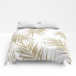 Palm Leaves Cali Finesse #2 #gold #tropical #decor #art #society6 Comforters