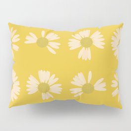 Yellow Daisy Chains Flower Floral Petals Nature Pillow Sham