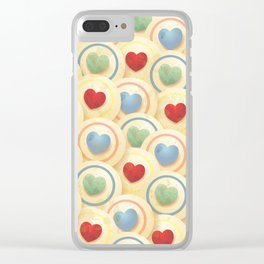 Hearts and circles Clear iPhone Case