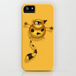 Flying Fat Cat | Yellow iPhone Case