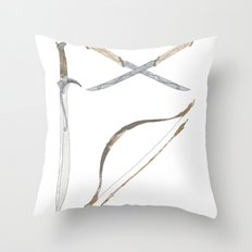 Middle Earth Weapons pack Throw Pillow
