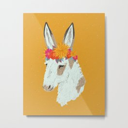 Penelope the Pinto Donkey Metal Print