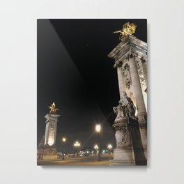 Pont de la Concorde, Paris Metal Print