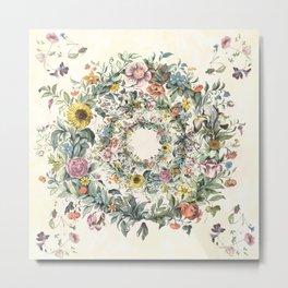 Circle of Life Cream Metal Print