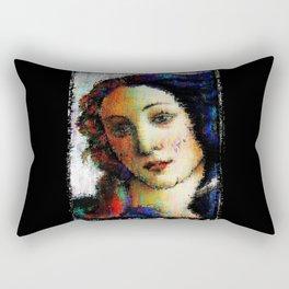 Blue Ruin Rectangular Pillow