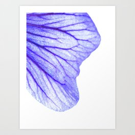 Blue flower abstract watercolor Art Print