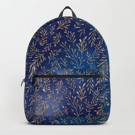 Gold Leaf In The Ocean Backpack