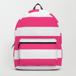 Barbie Pink (2004-2005) - solid color - white stripes pattern Backpack