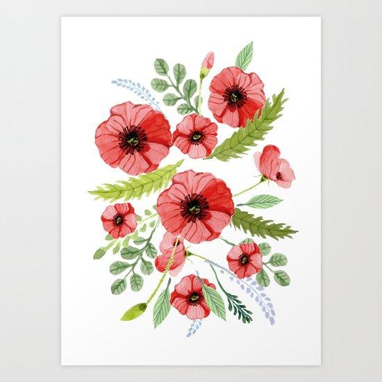 Flowers 110 Art Print