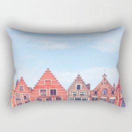 Gable Houses Rectangular Pillow