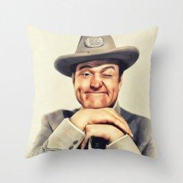 Red Skelton, Vintage Actor Throw Pillow