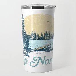Vintage Up North Lake Travel Mug