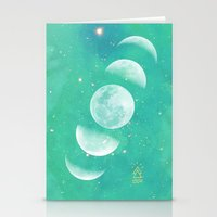 moon phase Stationery Cards featuring Moon Phase  by The Adventuring Soul