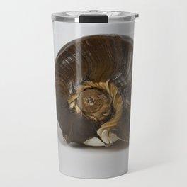 Brown Spiral Shell Travel Mug