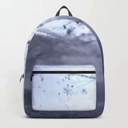 Tiny Snowflakes on Ice Backpack