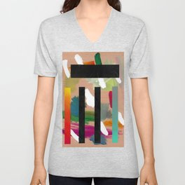 Untitled (Abstract Composition 2017018) Unisex V-Neck
