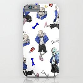 Sans doodles iPhone Case