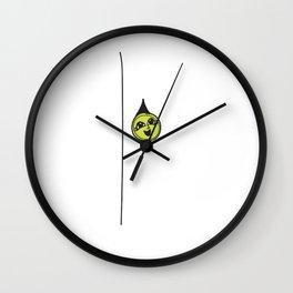 Cute As A Button Idiom Wall Clock