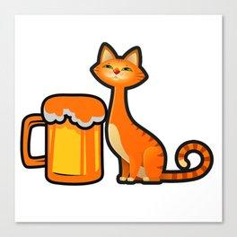 Beer Cat furniture Design by diegoramonart Canvas Print