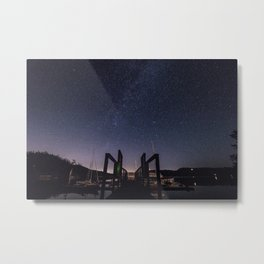 Dock On Under the Stars Metal Print