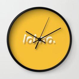 lol no. Wall Clock