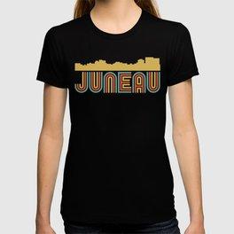 Vintage Style Juneau Alaska Skyline T-shirt