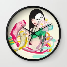 koi dance Wall Clock