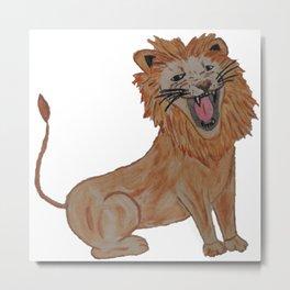 King of the Roar - Lion Metal Print