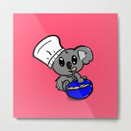 Koala Baker Metal Print